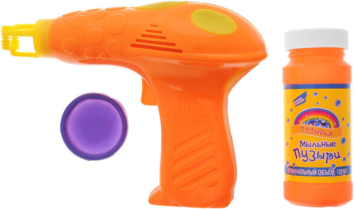 Пузырия Набор для пускания мыльных пузырей Пузырьмет цвет оранжевый305_оранжевыйВсе дети обожают пускать мыльные пузыри, а с набором для пускания мыльных пузырей Пузырия Пузырьмет это будет еще интереснее! Набор состоит из пистолета для пускания мыльных пузырей и мыльного раствора и ванночки для мыльного раствора. Пистолет выполнен в яркой цветовой гамме. Налейте раствор в ванночку примерно до половины глубины, окуните кольца приспособления в раствор и направьте приспособление в сторону. Нажмите на пусковой крючок несколько раз. Игрушка будет пускать красочные пузыри, которые будут переливаться всеми цветами радуги и парить в воздухе, радуя всех окружающих. Для работы игрушки необходимо купить 2 батарейкинапряжением 1,5V типа АА (не входят в комплект).