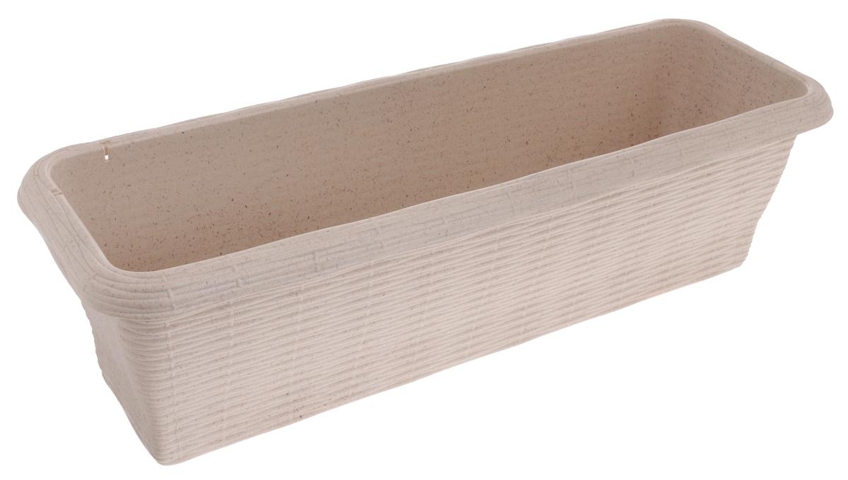Ящик балконный Bama Paglia Normal, с дренажной системой, цвет: древесный, 60 х 20 х 17,5 см30671Балконный ящик Bama Paglia Normal изготовлен из высококачественного прочного пластика. Ящик снабжен дренажной системой. Изделие прекрасно подойдет для выращивания цветов и рассады как на балконе, так и в комнатных условиях. Балконный ящик Bama Paglia Normal от итальянских дизайнеров впишется в любой интерьер.