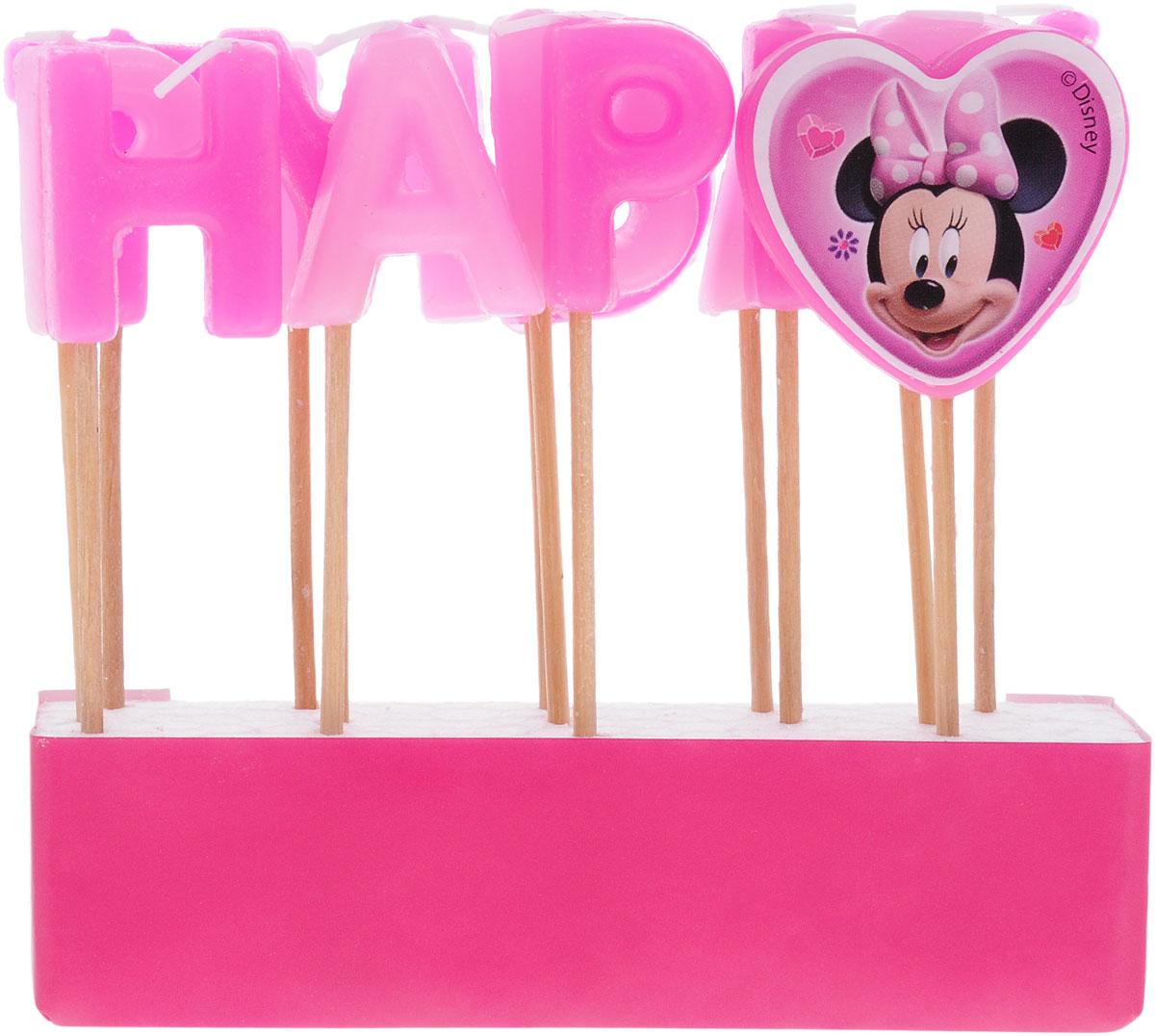 Procos Свечи для торта детские Свечи-буквы Кафе Минни Happy Birthday80531Праздничный торт - главный атрибут праздника на любом дне рождения, особенно, если это детский день рождения. Чтобы сделать торт необычным, достаточно украсить его оригинальными свечами от Procos. Свечи-буквы в стиле Дисней станут лучшим вариантом украшения детского торта. Посаженные на длинные деревянные шпажки, они прочно удержатся на торте. Из букв складывается популярное поздравление Happy Birthday. В наборе 14 шпажек со свечами. С такими свечками праздник удастся на славу, а маленький именинник будет в восторге!