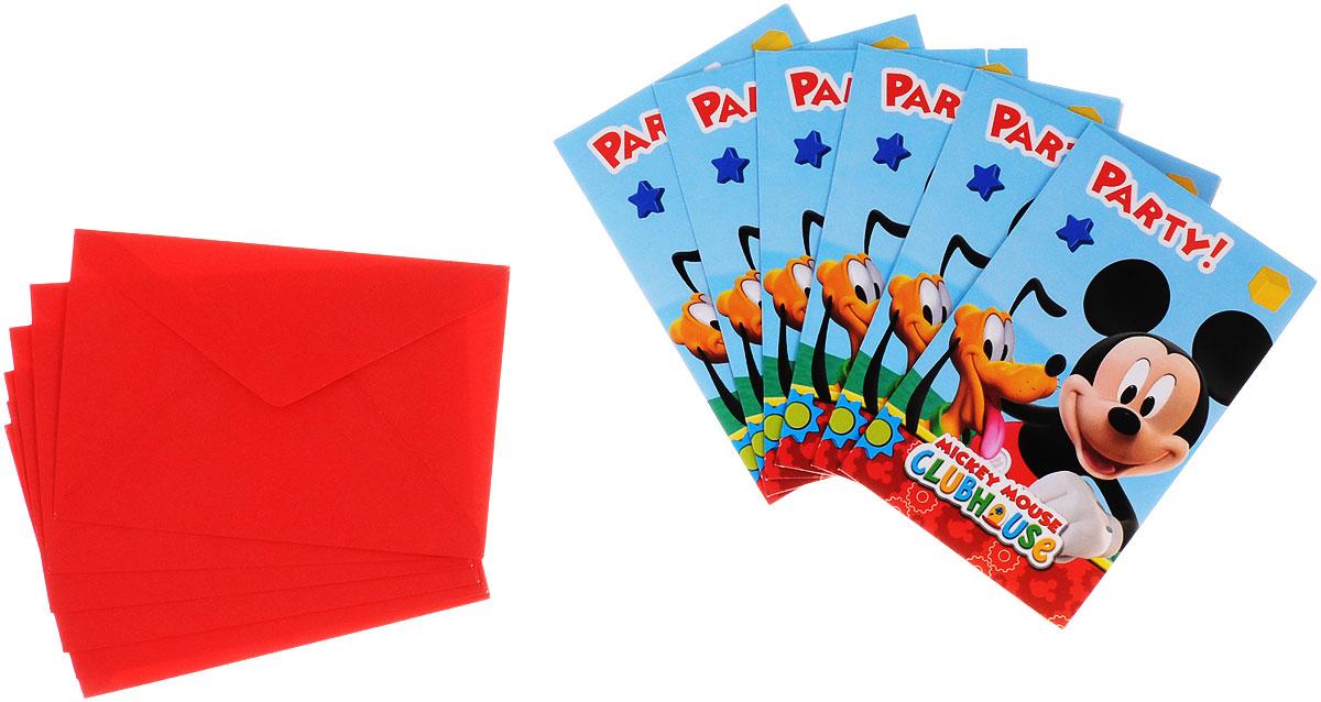 Procos Пригласительные открытки в конвертах Веселый Микки 6 шт81513Приглашения в конвертах всегда выглядят солидно, даже если это приглашения на детский праздник. Индивидуально заполненные открытки, упакованные в конверты приятно удивят и буквально обязывают приглашенного прийти на праздник! Именно подобные яркие и милые мелочи помогут гостям почувствовать атмосферу праздника. Такие приглашения приятно не только получать, но и раздавать! На открытках, украшенных изображениями веселого и забавного Микки Мауса, уже есть формы для заполнения, в которые нужно вписать имя гостя, дату, время и адрес торжества. В набор входит 6 открыток и 6 конвертов.