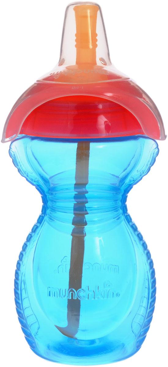 Munchkin Бутылочка-поильник Click Lock с трубочкой цвет голубой красный 296 мл11356_голубой,красныйБутылочка-поильник с трубочкой Munchkin Click Lock, выполненная из безопасного пластика специально разработана для малышей от 1 года. Поильник-непроливайка с мягкой силиконовой трубочкой облегчает малышу переход от бутылочки к чашке. Корпус бутылочки с рельефной поверхностью по бокам удобен для держания маленькими детскими ручками. Крышка поильника плотно герметично закручивается и благодаря цельному клапану, исключает проливание жидкости, даже если малыш перевернет бутылочку. Силиконовая трубочка поильника удобна для питья и безопасна для нежных десен ребенка. Бутылочку-поильник можно мыть в посудомоечной машине.
