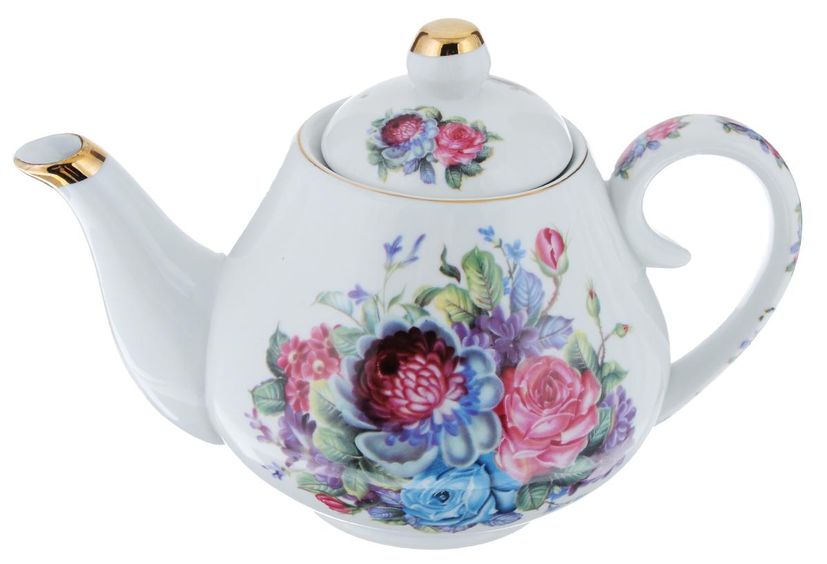 Чайник заварочный Loraine Цветы, 1 л. 2456324563Заварочный чайник Loraine Цветы поможет вам в приготовлении вкусного и ароматного чая, а также станет украшением вашей кухни. Он изготовлен из керамики и оформлен красочным изображением. Яркий цветочный рисунок придает чайнику особый шарм, он удобен в использовании и понравится каждому. Такой заварочный чайник станет приятным и практичным подарком на любой праздник. Диаметр чайника по верхнему краю: 8 см. Высота стенок чайника: 11 см. Высота чайника (с учетом крышки): 14 см.