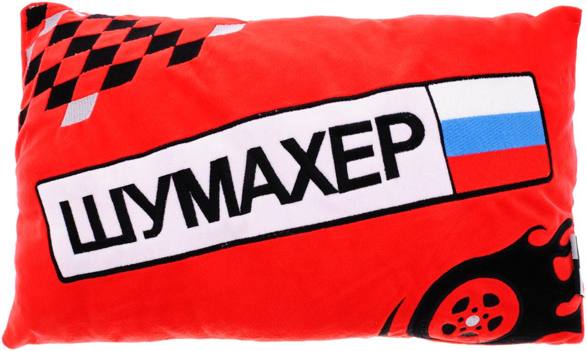 Maxi Toys Подушка автомобильная ШумахерPS-SUT101219R_красныйМягконабивная автомобильная подушка Шумахер, изготовленная из гипоаллергенных материалов, поможет снять напряжение и расслабиться. Чехол подушки выполнен из искусственного меха красного цвета с надписью Шумахер, наполнитель - полиэфирное волокно. Подушка прекрасно подойдет для хранения в автомобиле, на случай если пассажирам захочется отдохнуть. Легкая и удобная, она создаст правильное комфортное положение шеи и головы и обеспечит спокойный сон даже во время езды. Кроме того, она отлично будет смотреться на заднем сидении и украсит салон автомобиля.