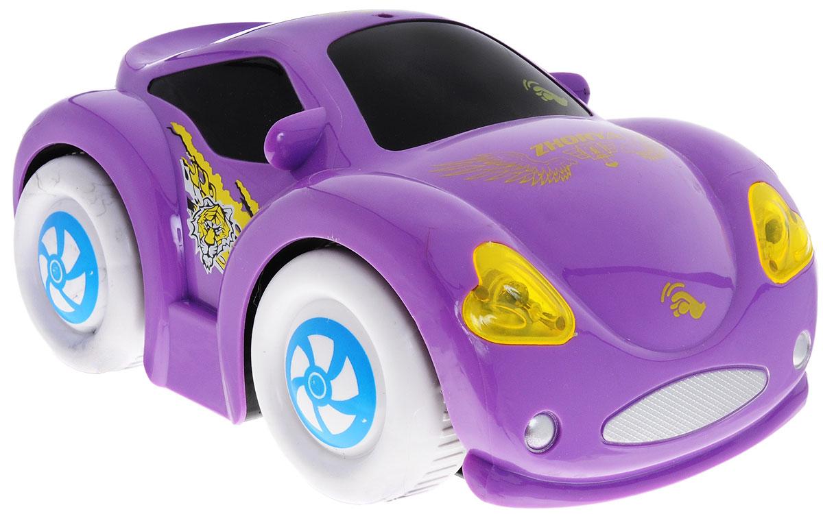 Zhorya Машинка c сенсорным управлением Автомалыш цвет фиолетовыйХ75542_фиолетовыйМашинка c сенсорным управлением Zhorya станет отличным подарком для вашего малыша. Модель изготовлена из высококачественных ударопрочных материалов, оснащена звуковыми и световыми эффектами. При прикосновении к машинке звучат забавные фразы и детские песенки, включаются фары. Для работы игрушки необходимы 3 батарейки типа АА (не входят в комплект).