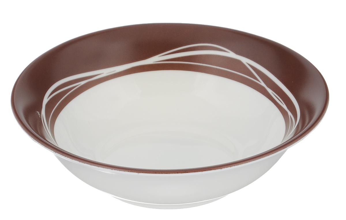 Миска Luminarc Raffia Brown, диаметр 16 смJ2348Миска Luminarc Raffia Brown выполнена из высококачественного стекла. Изделие сочетает в себе изысканный дизайн с максимальной функциональностью. Она прекрасно впишется в интерьер вашей кухни и станет достойным дополнением к кухонному инвентарю. Миска Raffia Brown подчеркнет прекрасный вкус хозяйки и станет отличным подарком. Диаметр миски (по верхнему краю): 16 см. Высота стенки: 5 см.