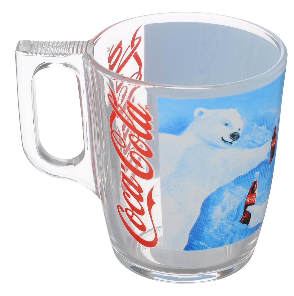 Кружка Luminarc Coca-Cola. Polar Bear, 200 млJ3989Кружка Luminarc Coca-Cola. Polar Bear изготовлена из упрочненного стекла. Такая кружка прекрасно подойдет для горячих и холодных напитков. Она дополнит коллекцию вашей кухонной посуды и будет служить долгие годы. Объем кружки: 200 мл. Диаметр кружки (по верхнему краю): 7,5 см. Высота стенки кружки: 9 см.