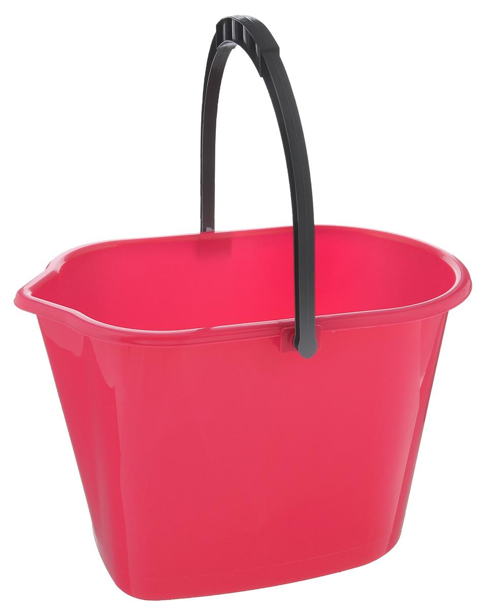 Ведро York, цвет: малиновый, серый, 10 л7102Прямоугольное ведро York изготовлено из высококачественного пластика. Оно легче железного и не подвергается коррозии. Ведро оснащено носиком для слива и ручкой для удобной переноски. Такое ведро станет незаменимым помощником в хозяйстве. Размер ведра (по верхнему краю): 35 см х 22 см. Высота: 24 см.