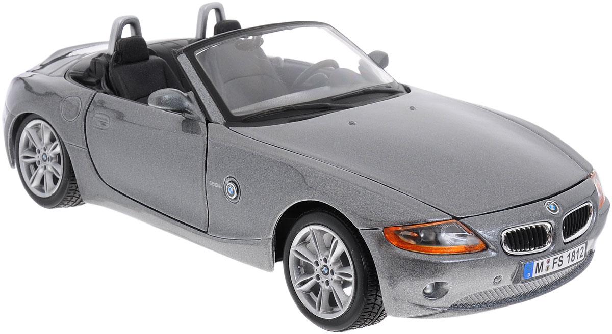 Bburago Модель автомобиля BMW Z418-22002_темно-серыйКоллекционная модель автомобиля Bburago BMW Z4 будет отличным подарком как ребенку, так и взрослому коллекционеру. Благодаря броской внешности, а также великолепной точности, с которой создатели этой модели масштабом 1:24 передали внешний вид настоящего автомобиля, машинка станет подлинным украшением любой коллекции авто. Машинка будет долго служить своему владельцу благодаря металлическому корпусу с элементами из пластика. Передние двери машины открываются. Шины обеспечивают отличное сцепление с любой поверхностью пола. Модель автомобиля Bburago BMW Z4 обязательно понравится вашему ребенку и станет достойным экспонатом любой коллекции.