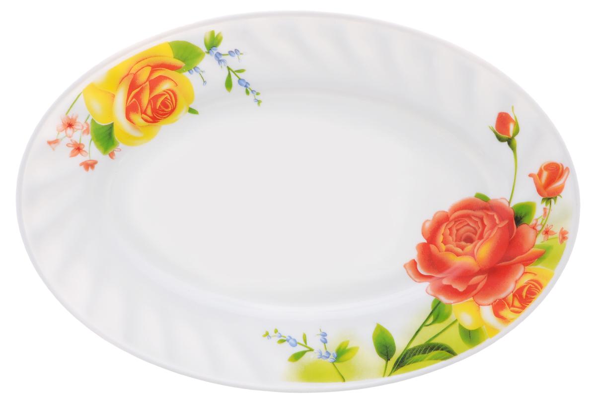 Блюдо Chinbull Алессио, 25 х 17 смHYP-100/6665Овальное блюдо Chinbull Алессио, изготовленное из высококачественной стеклокерамики, украшено ярким цветочным рисунком. Изящный дизайн придется по вкусу и ценителям классики, и тем, кто предпочитает утонченность. Блюдо Chinbull Алессио идеально подойдет для сервировки стола и станет отличным подарком к любому празднику. Размер блюда (по верхнему краю): 25 см х 17 см. Высота стенки: 2 см.