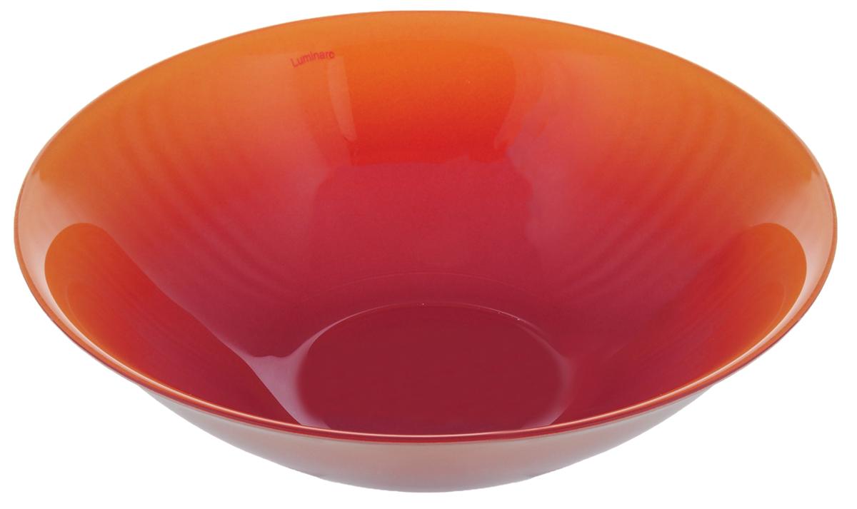 Миска Luminarc Fizz Honey, цвет: оранжевый, розово-лиловый, диаметр 16 смH8780Миска Luminarc Fizz Honey выполнена из высококачественного стекла. Изделие сочетает в себе изысканный дизайн с максимальной функциональностью. Она прекрасно впишется в интерьер вашей кухни и станет достойным дополнением к кухонному инвентарю. Миска Luminarc Fizz Honey подчеркнет прекрасный вкус хозяйки и станет отличным подарком.