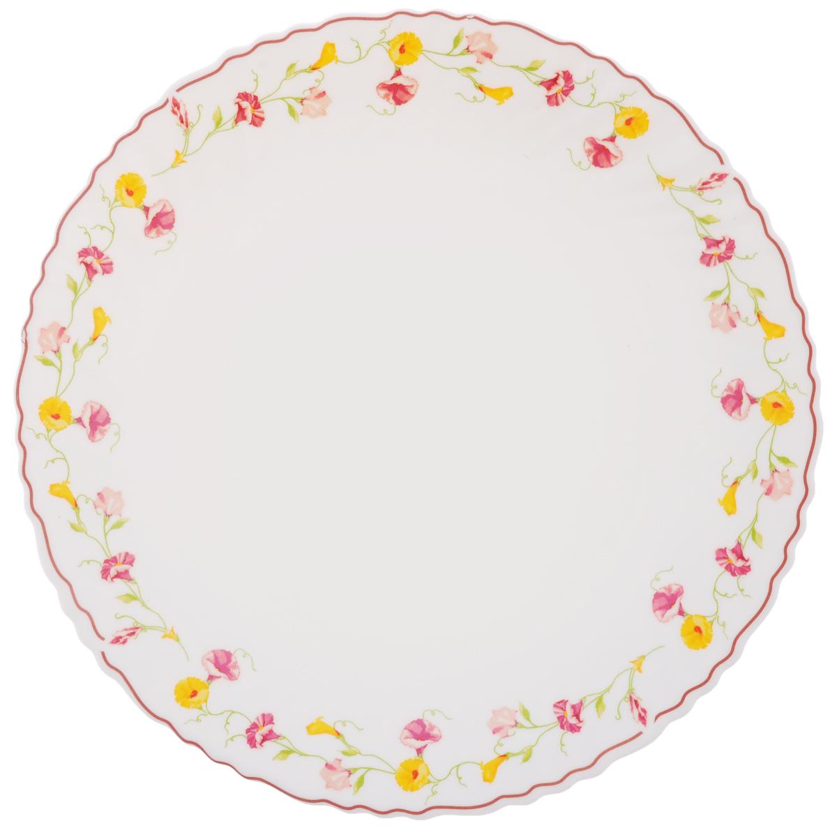 Тарелка обеденная Chinbull Эльзас, диаметр 24 смOLHP-95/308Обеденная тарелка Chinbull Эльзас, изготовленная из высококачественной стеклокерамики, украшена ярким цветочным рисунком. Изящный дизайн придется по вкусу и ценителям классики, и тем, кто предпочитает утонченность. Тарелка Chinbull Эльзас идеально подойдет для сервировки стола и станет отличным подарком к любому празднику. Диаметр (по верхнему краю): 24 см.