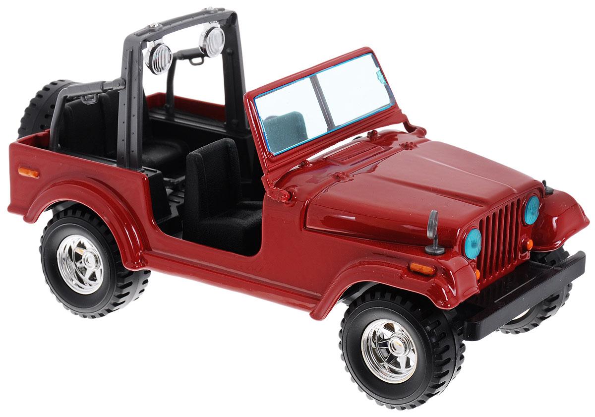 Bburago Модель автомобиля Jeep Wrangler18-22033_красныйКоллекционная модель автомобиля Bburago Jeep Wrangler будет отличным подарком как ребенку, так и взрослому коллекционеру. Благодаря броской внешности, а также великолепной точности, с которой создатели этой модели масштабом 1:24 передали внешний вид настоящего автомобиля, машинка станет подлинным украшением любой коллекции авто. Машинка будет долго служить своему владельцу благодаря металлическому корпусу с элементами из пластика. Шины обеспечивают отличное сцепление с любой поверхностью пола. Модель автомобиля Bburago Jeep Wrangler обязательно понравится вашему ребенку и станет достойным экспонатом любой коллекции.