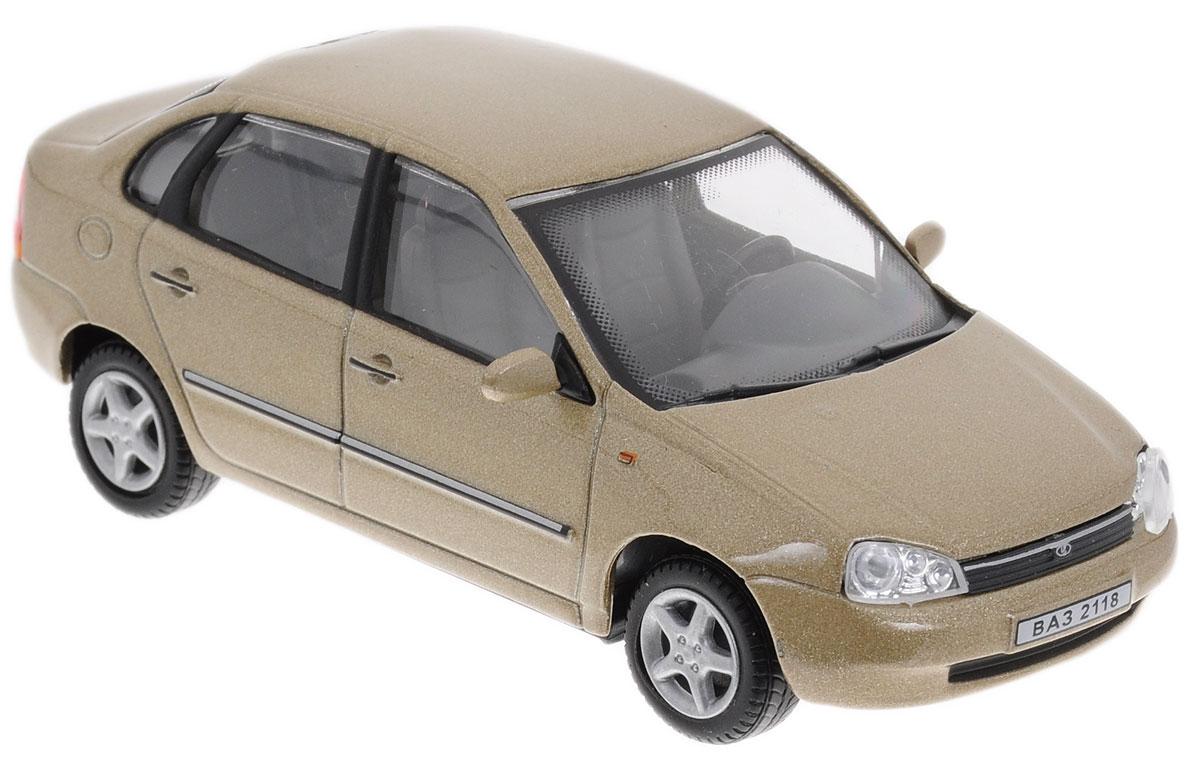 Cararama Модель автомобиля ВАЗ 2118 Lada Kalina цвет бежевыйLC230ND_бежевыйКоллекционная модель Cararama ВАЗ 2118 Lada Kalina - миниатюрная копия настоящего автомобиля. Стильная модель автомобиля привлечет к себе внимание не только детей, но и взрослых. Модель имеет литой металлический корпус с высокой детализацией интерьера салона, дисков. Игрушка в точности повторяет модель оригинальной техники, подробная детализация в полной мере позволит вам оценить высокую точность копии этой машины! Такая модель станет отличным подарком не только любителю автомобилей, но и человеку, ценящему оригинальность и изысканность, а качество исполнения представит такой подарок в самом лучшем свете.