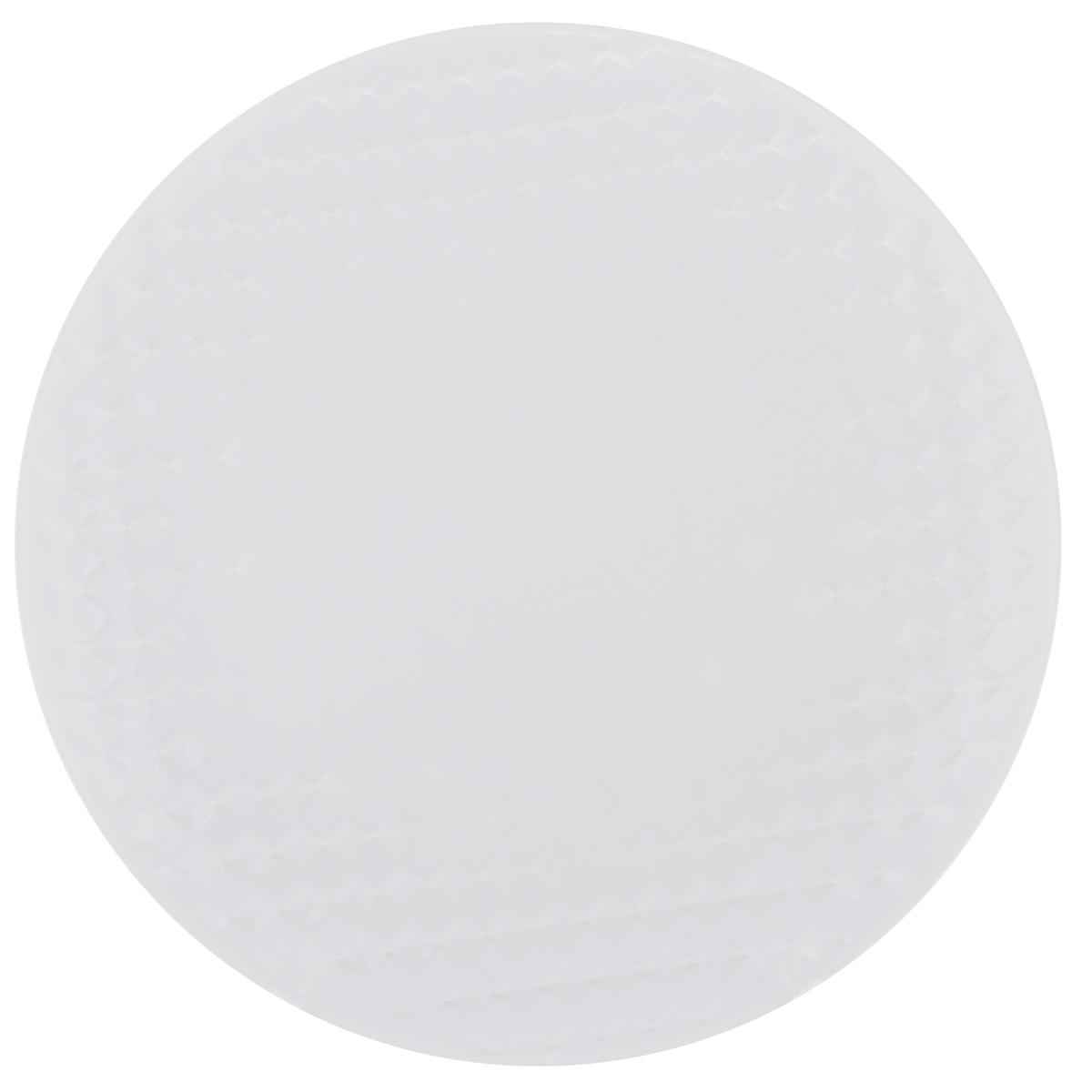 Тарелка обеденная Walmer Sapphire, диаметр 25,5 смW07430026Тарелка обеденная Walmer Sapphire изготовлена из фарфора белого цвета. Предназначена для красивой подачи различных блюд. Изделие декорировано необычным рельефом. Такая тарелка украсит сервировку стола и подчеркнет прекрасный вкус хозяйки. Не применять абразивные чистящие средства. Диаметр: 25,5 см. Высота: 2,5 см.
