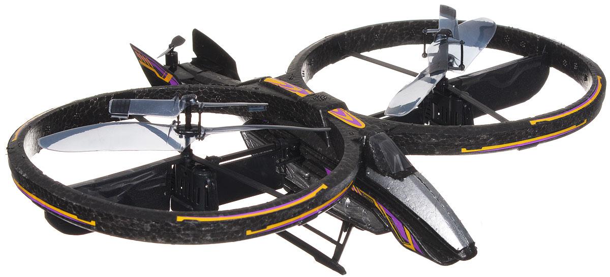 Silverlit Вертолет на радиоуправлении Space Phoenix цвет черный желтый84519_черный, желтыйВертолет на радиоуправлении Silverlit Space Phoenix со световыми эффектами привлечет внимание не только ребенка, но и взрослого, и станет отличным подарком любителю воздушной техники. Каркас вертолета выполнен из пенопласта с использованием пластика. Вертолет оснащен двумя винтами, позволяющими передвигаться по максимально четкой траектории. Вертолет имеет трехканальное дистанционное управление, с помощью пульта управления можно двигаться вперед, вправо, влево, вверх и вниз. Модель вертолета идеально подходит для игры как внутри помещения, так и на улице. Зарядка аккумулятора осуществляется от пульта управления. В комплект входит радиоуправляемый вертолет, пульт управления, запасной хвостовой винт, отвертка для смены винта, наклейки и инструкция по эксплуатации на русском языке. Каждый полет вертолета будет максимально комфортным и принесет вам яркие впечатления! Вертолет работает от встроенного литий-полимерного аккумулятора c...