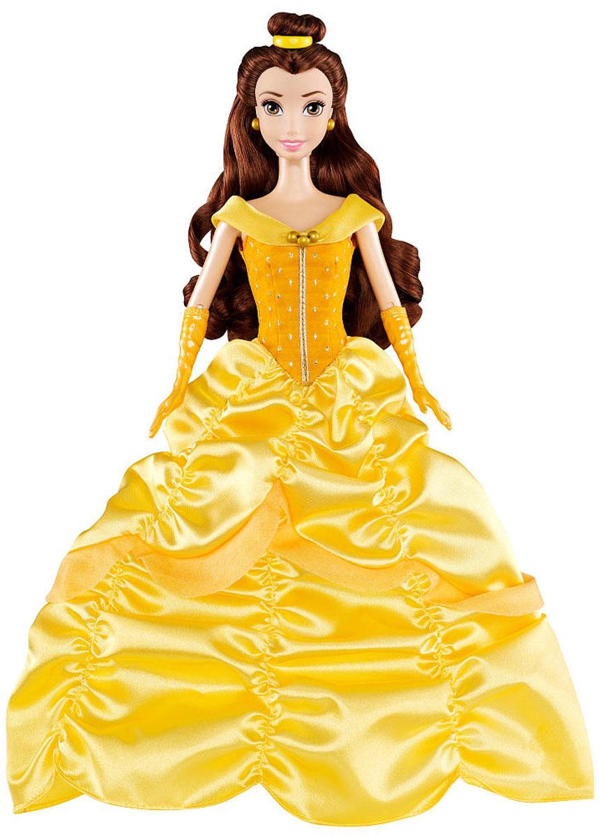 Disney Princess Кукла Белль в бальном платьеBDJ26(BDJ27/BDJ28/BDJ29)_БелльКукла Disney Princess Белль поможет вашей малышке окунуться в сказочный мир. Куколка выполнена в виде главной героини диснеевского мультфильма Красавица и Чудовище. Золушка одета в шикарное желтое платьице, а на ногах - туфельки на каблуках. На каштановых волосах, убранных в красивую прическу, красуется резиночка. Ручки куклы на шарнирах. Ножки и голова куколки подвижны. Ваша малышка с удовольствием будет играть с этой куколкой, проигрывая сюжеты из мультфильма или придумывая различные истории.