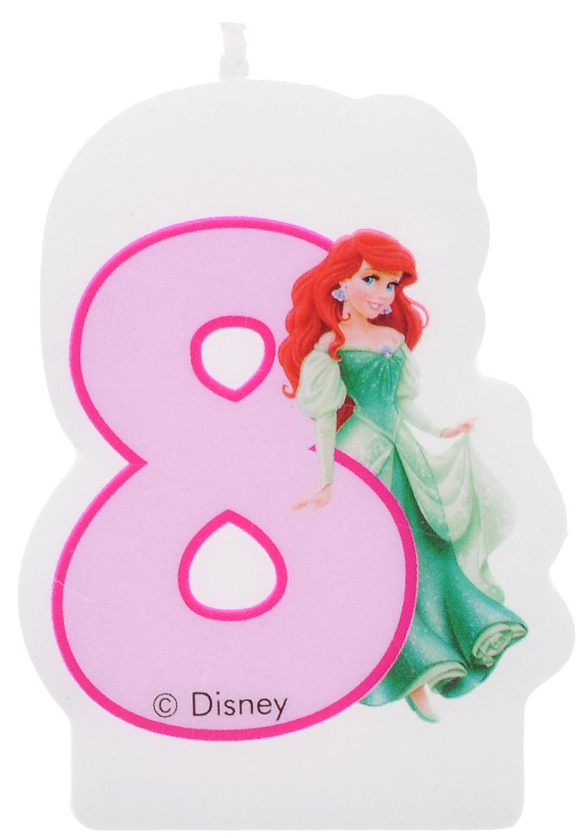 Procos Свеча-цифра для торта Принцессы 8 лет9048, 82901Каждая именинница ждет своего праздничного торта со свечками, которые можно задуть и загадать желание. Вашей малышке будет особенно приятно видеть свечки с фигурками любимых сказочных принцесс Диснея. Свечка с принцессой Ариэль украсит праздничный торт девочки, которая отмечает свой восьмой день рождения.