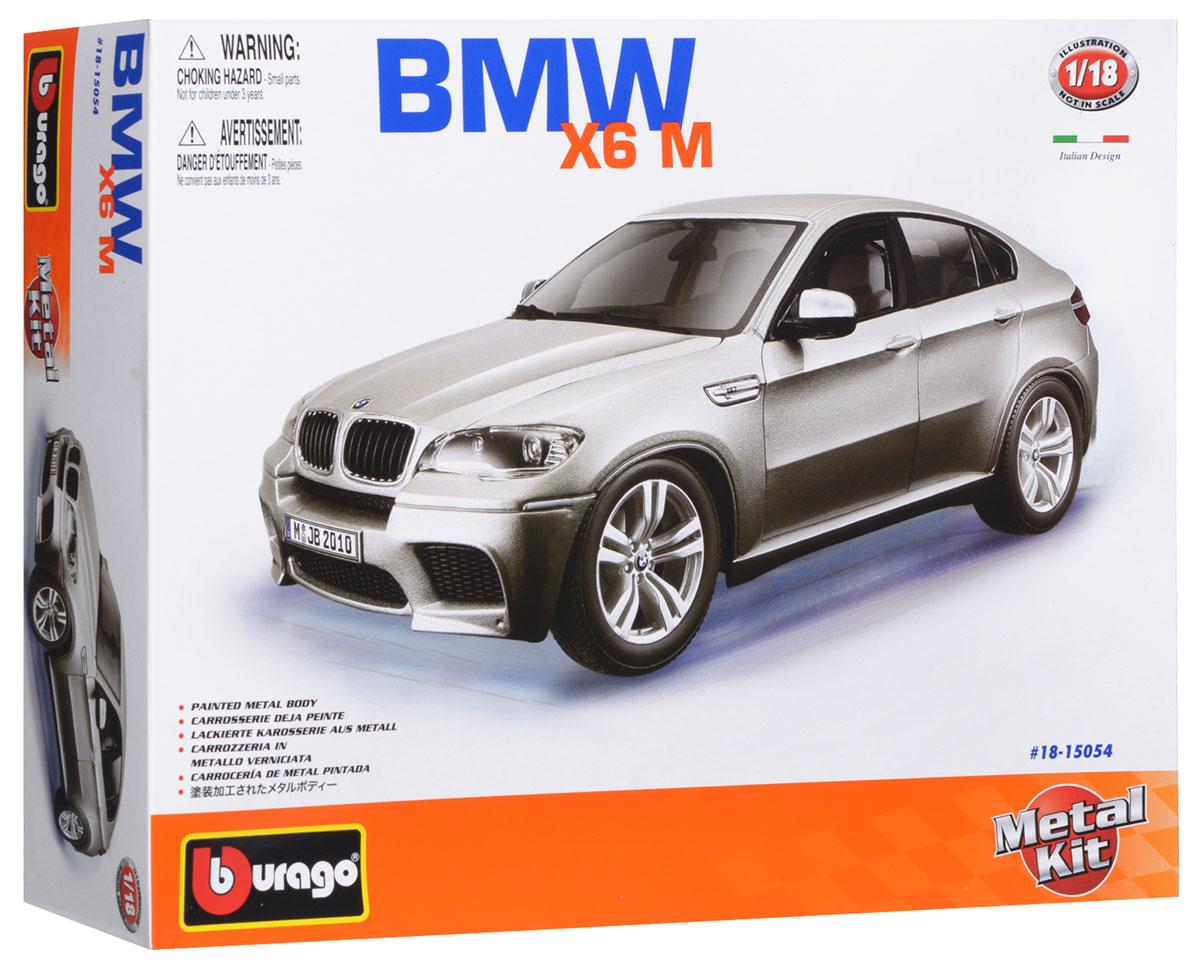 Bburago Сборная модель автомобиля BMW X6 M18-15054Стильная коллекционная модель автомобиля Bburago BMW X6 M привлечет к себе внимание не только детей, но и взрослых. Модель представлена в масштабе 1:18 и в точности воспроизводит все детали внешнего облика реального автомобиля BMW X6 M. Корпус автомобиля выполнен из металла с использованием пластиковых элементов, колеса - из резины. Машинка оборудована открывающимися дверцами и подвижной рулевой системой и колесами. В комплекте: элементы для сборки модели, наклейки и схематичная инструкция по сборке. Модель собирается без использования клея.