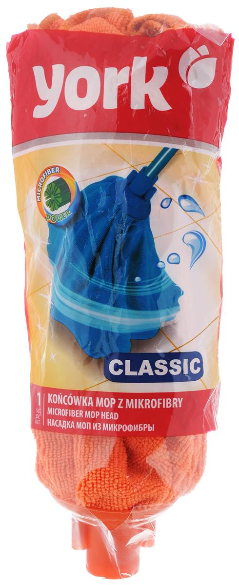Насадка для швабры York Классик, сменная, цвет: оранжевый7706Сменная насадка для швабры York Классик изготовлена из микрофибры и пластика. Микрофибра обладает высокой износостойкостью, не царапает поверхности и отлично впитывает влагу. Насадка отлично удаляет большинство жирных и маслянистых загрязнений без использования химических веществ. Насадка идеально подходит для мытья всех типов напольных покрытий. Она не оставляет разводов и ворсинок. Сменная насадка для швабры York Классик станет незаменимой в хозяйстве. Длина насадки: 27 см.