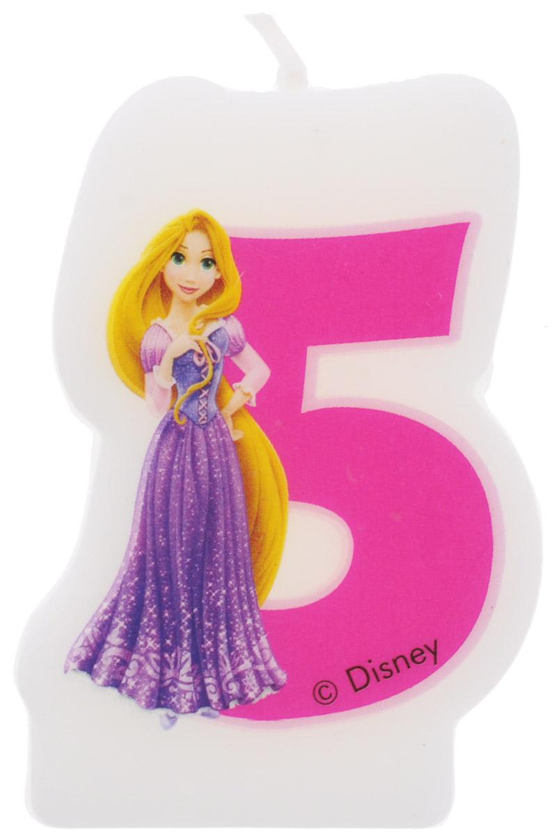 Procos Свеча-цифра для торта Принцессы 5 лет9045, 82898Каждая именинница ждет своего праздничного торта со свечками, которые можно задуть и загадать желание. Вашей малышке будет особенно приятно видеть свечки с фигурками любимых сказочных принцесс Диснея. Свечка с принцессой Рапунцель украсит праздничный торт девочки, которая отмечает свой пятый день рождения.