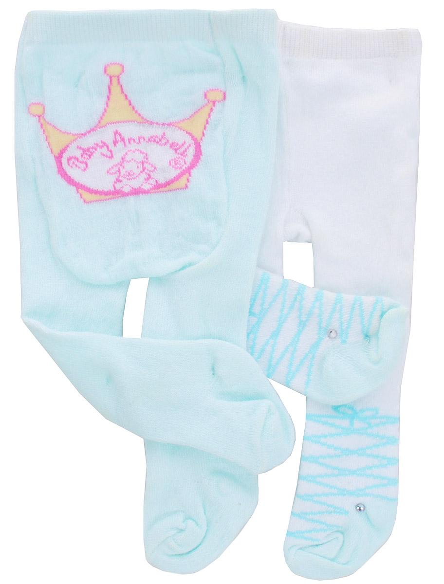 Baby Annabell Одежда для кукол Колготки 2 пары цвет голубой белый