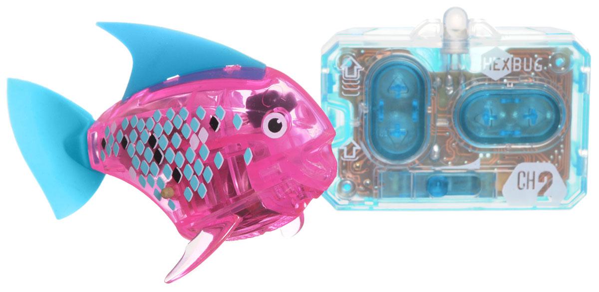 Hexbug Микро-робот на радиоуправлении Рыба-ангел цвет розовый460-4086_3Hexbug Aquabot 3.0 RC - это обновленная версия робо-рыбки, управляемая при помощи пульта ДУ. Кроме того, управляемая рыбка-ангел получила яркий и привлекательный окрас плавничков и хвостика, стильный декор и умные, словно настоящие, глазки. Наделив рыбку пультом ДУ, разработчики не лишили ее самостоятельности. Если вы не хотите управлять рыбкой, то просто пустите робо-рыбку в аквариум и она будет плавать сама. Не утратила прирученная рыбка и первоначальных свойств: как и раньше аквабот просыпается от стука по стенкам аквариума и светится в темноте. Питание: 4 батарейки типа AG13/LR44 (входят в комплект).