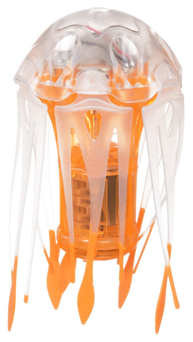 Hexbug Микро-робот Медуза цвет желтый460-4087_3Новый микро-робот Jellyfish (медуза) выглядит весьма реалистично. Движения водоплавающего очень похожи на оригинал - медуза способна погружаться в глубину, а также вращаться на месте, что заставляет ее щупальца развиваться в разные стороны, создавая неповторимое завораживающее зрелище! Верхняя часть излучает яркий пульсирующий свет, что создает дополнительную футуристичность микро-роботу. Умный робот получил от создателей не только яркое и запоминающееся внешнее оформление, а также богатый внутренний мир. Помимо умной системы энергосбережения, которая была реализована еще в первых моделях AquaBot, для мини-медузы можно менять глубину погружения, изменяя количество грузиков в батарейном отсеке. Качество, элегантность и красота новой водоплавающей медузы порадует взрослых и детей. Запустите мини-медузу в аквариум или в ванной - умный робот сможет приспособиться к любым условиям. Питание: 3 батарейки AG13 (входят в комплект).