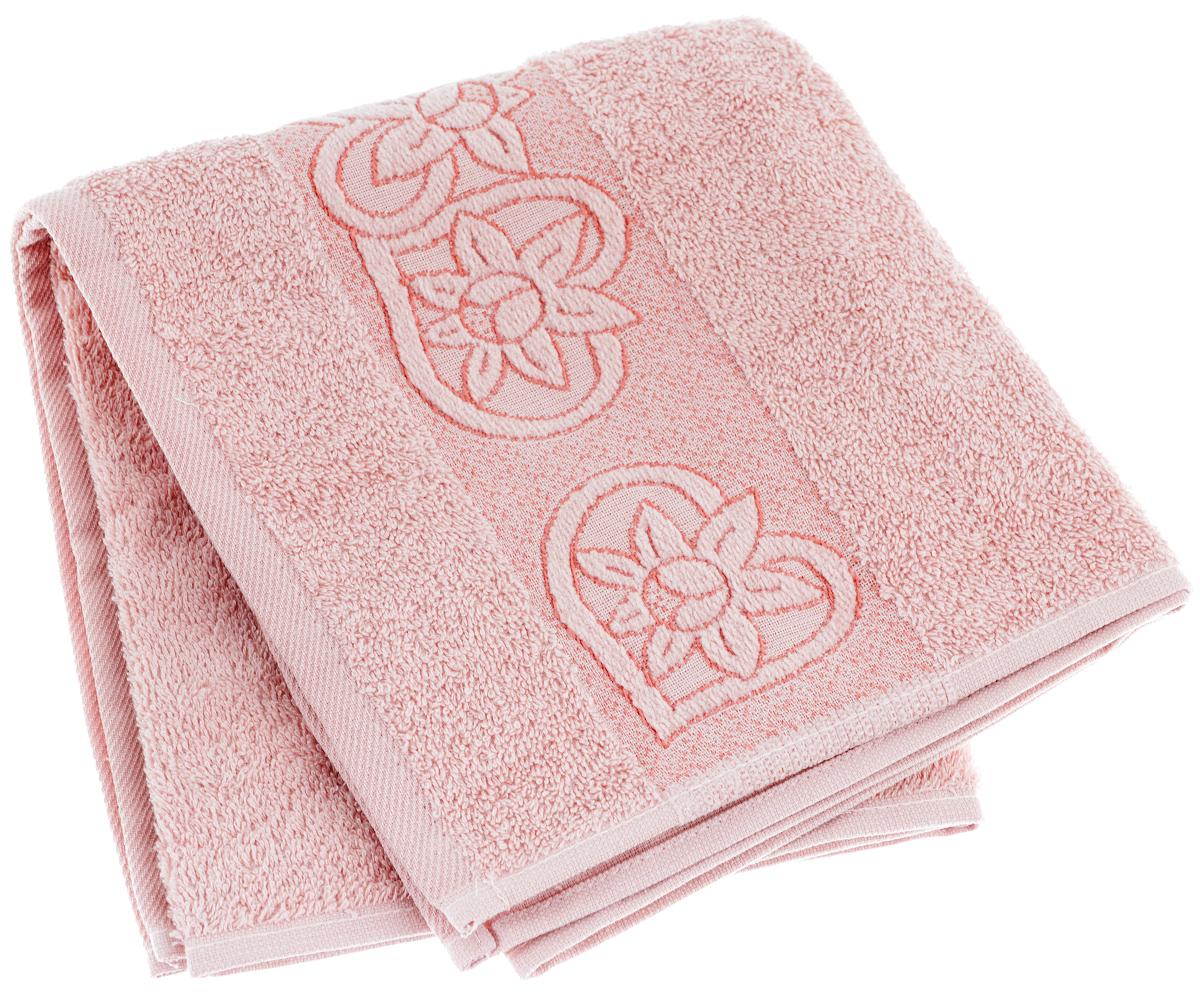Полотенце махровое Primavelle Deni, цвет: чайная роза, 50 х 90 см2855090-D09Махровое полотенце Primavelle Deni - невероятно стильный и современный аксессуар для вашей ванной. Изделие выполнено из натурального гипоаллергенного хлопка, оформлено изысканным бордюром с нежным рисунком. Такое полотенце хорошо впитывает влагу, надолго сохраняет цвет и форму и не требует специального ухода. Разнообразие расцветок впечатляет: нежные розовые и бежевые тона прекрасно сочетаются с глубокими бордовыми и лиловыми цветами. Благодаря высокой плотности махры ваше полотенце прослужит долгие годы, даря тепло и уют вашим близким.