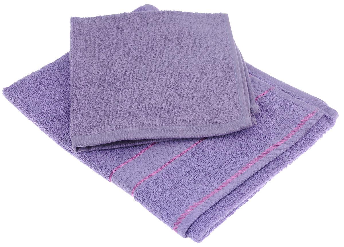 Набор махровых полотенец Aisha Home Textile, цвет: сиреневый, 2 штУзТ-КМП-09-05Набор Aisha Home Textile состоит из двух махровых полотенец разного размера, выполненных из натурального 100% хлопка. Изделия отлично впитывают влагу, быстро сохнут, сохраняют яркость цвета и не теряют формы даже после многократных стирок. Полотенца очень практичны и неприхотливы в уходе. Комплектация: 2 шт.