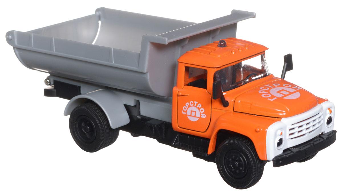 ТехноПарк Коллекционная модель Грузовик Зил 130CT11-271-1+2_оранжевыйКоллекционная модель ТехноПарк Грузовик Зил 130, выполненная из пластика и металла, станет любимой игрушкой вашего малыша. Игрушка представляет собой модель грузового автомобиля с поднимающимся кузовом. У машинки открываются капот и дверцы кабины. Модель оснащена световыми и звуковыми эффектами, которые появляются при нажатии на специальную кнопку на крыше кабины. Игрушка оснащена инерционным ходом. Машинку необходимо отвести назад, затем отпустить - и она быстро поедет вперед. Прорезиненные колеса обеспечивают надежное сцепление с любой гладкой поверхностью. Ваш ребенок будет часами играть с этой игрушкой, придумывая различные истории. Порадуйте его таким замечательным подарком! Для работы требуются 3 батарейки типа LR41 (комплектуется демонстрационными).
