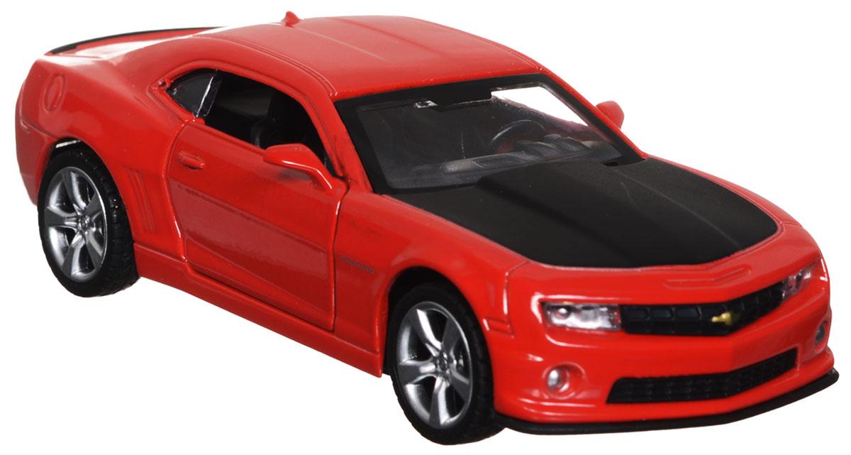ТехноПарк Модель автомобиля Chevrolet Camaro цвет красный67326_красныйКоллекционная модель ТехноПарк Chevrolet Camaro выполнена в масштабе 1:43 и в точности воспроизводит все детали внешнего облика реального великолепного автомобиля, производимого знаменитой маркой Chevrolet. Модель изготовлена из металла с использованием пластика и оборудована открывающимися дверцами и инерционным ходом. Ее необходимо отвести назад, затем отпустить - и она быстро поедет вперед. Коллекционная модель Chevrolet Camaro будет отлично смотреться в качестве оригинального подарка не только любителю автомобилей, но и человеку, ценящему стиль и изысканность, а качество исполнения представит такой подарок в самом лучшем свете.