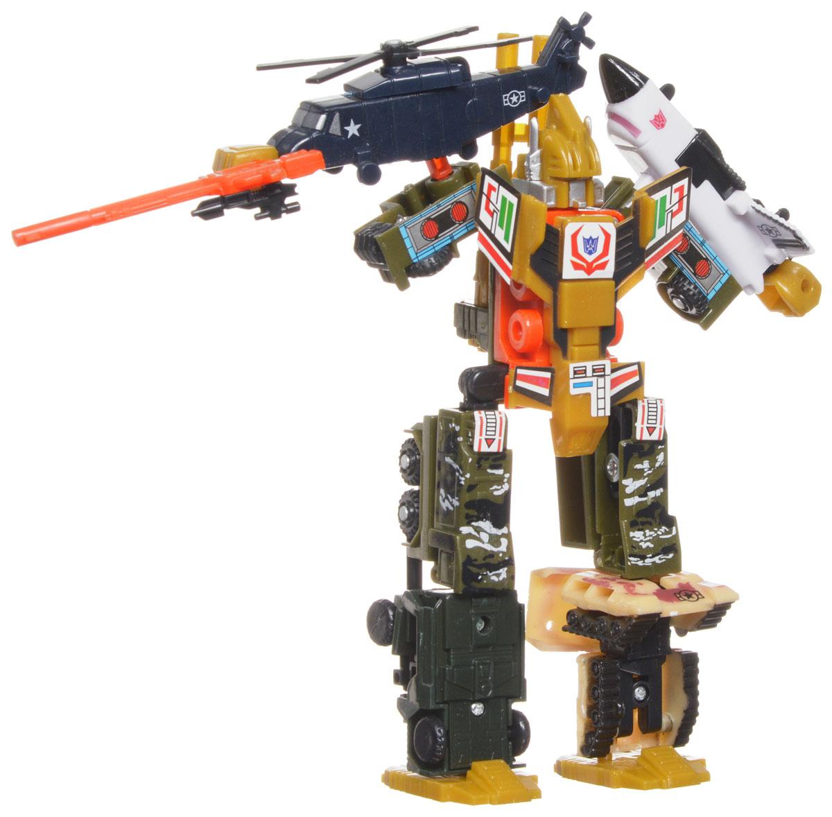 Play Smart Трансформер Робот ИстребительР41270Оригинальный робот-трансформер Истребитель от компании Play Smart, обязательно порадует вашего ребенка и надолго займет его внимание. Трансформер выполнен из яркого прочного пластика с металлическими элементами. Конструкция робота имеет подвижные соединения, благодаря чему игрушке можно придавать различные позы. Фигурка отличается высокой степенью детализации. Это модель 5 в 1. Большой трансформер разбирается на 5 маленьких отдельных роботов. Ваш ребенок с удовольствием будет играть с фигуркой, придумывая разные истории. Порадуйте его таким замечательным подарком!
