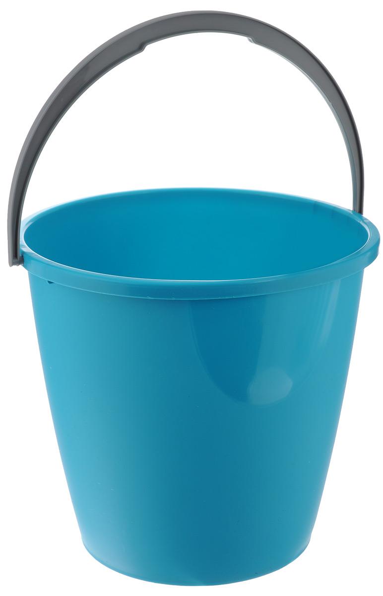 Ведро для уборки York, цвет: изумрудный, 10 л7103Круглое ведро York изготовлено из высококачественного пластика. Оно легче железного и не подвержено коррозии. Изделие оснащено удобной пластиковой ручкой. Такое ведро станет незаменимым помощником в хозяйстве. Размер ведра (по верхнему краю): 28 см х 28 см. Высота стенок: 25,5 см. Объем: 10 л.