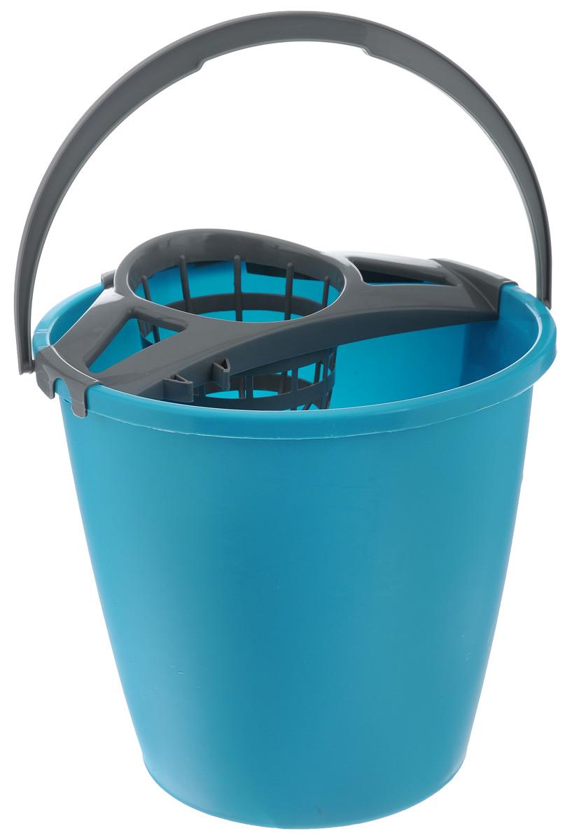 Ведро для уборки York, с насадкой для отжима швабры, 10 л. 71037003Ведро York, изготовленное из полипропилена, порадует практичных хозяек. Изделие снабжено специальной насадкой, которая обеспечивает интенсивный отжим ленточных швабр. Это значительно уменьшает физические нагрузки при мытье полов. Насадка надежно крепится на ведро и также легко снимается, позволяя хранить ее отдельно. Для удобного использования ведро оснащено эргономичной ручкой. Размер ведра (по верхнему краю): 27 см х 27 см. Высота: 25,5 см. Объем: 10 л.