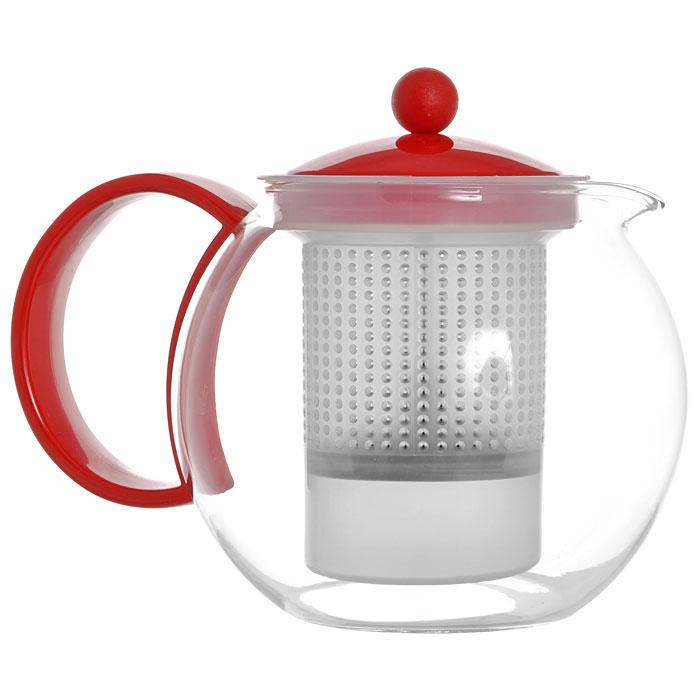 Френч-пресс Bodum Assam, цвет: красный, 1 л. 1844-2941844-294Френч-пресс Bodum Assam, выполненный из стекла, пластика и нержавеющей стали, практичный и простой в использовании. Он займет достойное место на вашей кухне и позволит вам заварить свежий, ароматный чай. Засыпая чайную заварку в фильтр-сетку и заливая ее горячей водой, вы получаете ароматный чай с оптимальной крепостью и насыщенностью. Остановить процесс заварки чая легко. Для этого нужно просто опустить поршень, и заварка уйдет вниз, оставляя вверху напиток, готовый к употреблению. Современный дизайн полностью соответствует последним модным тенденциям в создании предметов бытовой техники. Диаметр френч-пресса по верхнему краю (без учета носика и ручки): 9,5 см. Максимальный диаметр френч-пресса: 15 см. Высота френч-пресса (с учетом крышки): 15 см.