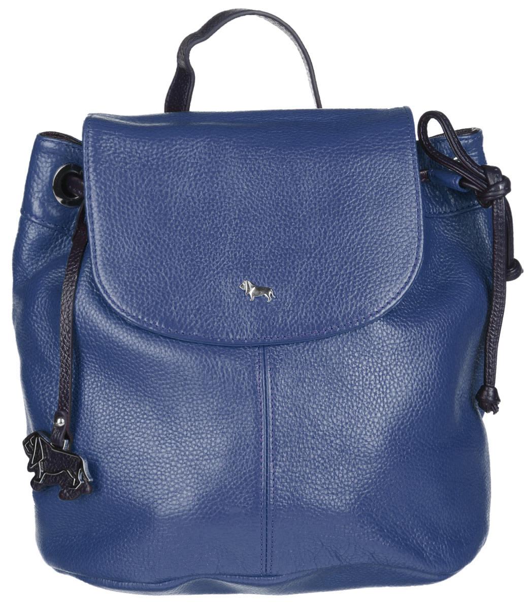 Рюкзак женский Labbra, цвет: синий, черный. L-9916-1L-9916-1Стильный женский рюкзак Labbra выполнен из натуральной кожи с фактурным тиснением. Изделие имеет одно отделение, закрывающееся на клапан с магнитом и дополнительно на затягивающийся шнурок. Внутри находится прорезной карман на застежке-молнии и два открытых накладных кармана. Снаружи, на задней стенке расположен прорезной карман на застежке- молнии. Рюкзак оснащен съемной лямкой, регулируемой по длине, которая позволяет носить изделие на плечах, или в руках, как сумку. Изделие украшено фирменным брелоком. В комплект входит фирменный чехол для хранения. Стильный рюкзак Labbra прекрасно дополнит ваш образ.