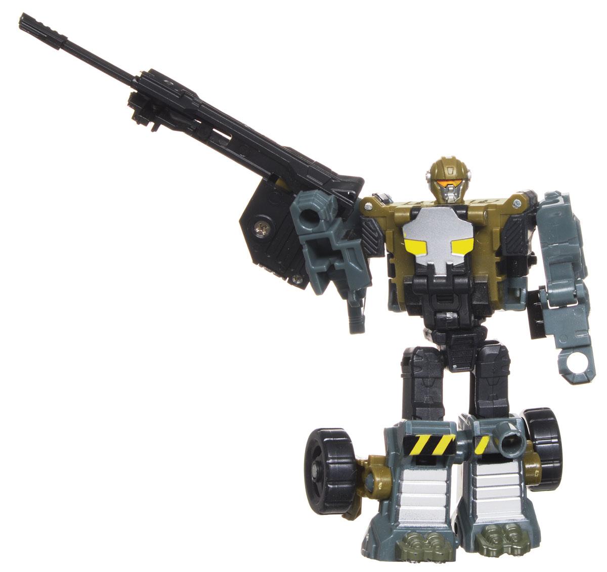 Play Smart Трансформер НосорогР41253Оригинальный робот-трансформер Носорог от компании Play Smart, обязательно порадует вашего ребенка и надолго займет его внимание. Трансформер выполнен из прочного пластика темных цветов с серебристыми и желтыми элементами. Конструкция робота имеет подвижные соединения, благодаря чему, игрушке можно придавать различные позы. Фигурка отличается высокой степенью детализации. Трансформер имеет две вариации: первая - робот с грозным оружием, вторая - военная машина. Превратить робота в боевое транспортное средство поможет подробная инструкция. Ваш ребенок с удовольствием будет играть с фигуркой, придумывая разные истории. Порадуйте его таким замечательным подарком!