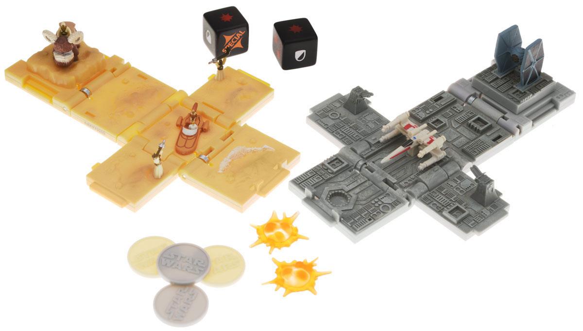 Spin Master Боевые кубики Звездные войны Tusken Raider Attack & Battle of Yavin 2 шт52101Боевые кубики Spin Master Звездные войны: Tusken Raider Attack & Battle of Yavin - это новый уникальный продукт, который придется по душе любому фанату саги Звездные войны. Игрушка представляет собой боевой кубик- трансформер. В сложенном состоянии это компактный кубик высотой 4 сантиметра, но стоит его раскрыть и у вас на столе окажется поле для стратегической игры в антураже любимой вселенной. Внутри раскладывающегося кубика - сцены из мира Звездных войн. Такой кубик станет великолепным подарком для любого поклонника настольных игр! В набор входит 2 различных кубика, которые позволят воспроизвести любимые моменты из фильмов: атаку таскенских рейдеров и битву на Явине. В комплект входят 6 фишек-маркеров, игровые кости и 2 кубика.
