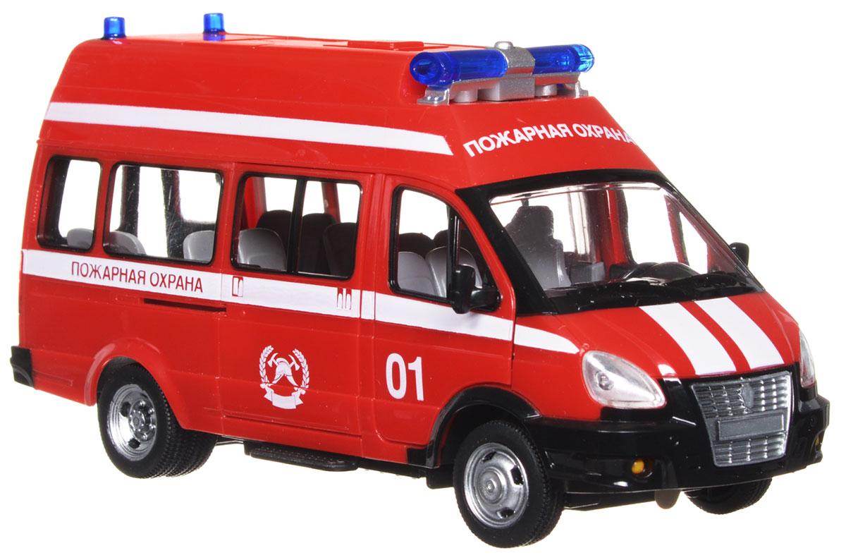 Play Smart Инерционная машина Пожарная охранаР41359Инерционная машина Пожарная охрана со звуковыми и световыми эффектами, несомненно, понравится вашему ребенку и не позволит ему скучать. Игрушка выполнена в виде ярко-красной машины пожарной охраны. При нажатии на кнопку, расположенную на крыше, откроются задние двери, включится звук, и загорятся фары. У машинки открываются передние двери, поворачиваются колеса. Игрушка обладает инерционным механизмом. Стоит откатить игрушку назад, слегка надавив на крышу, затем отпустить - и машинка стремительно поедет вперед. Ваш ребенок часами будет играть с машинкой, придумывая различные интересные истории. Порадуйте его таким замечательным подарком! Рекомендуется докупить 3 батарейки LR44 (товар комплектуется демонстрационными).