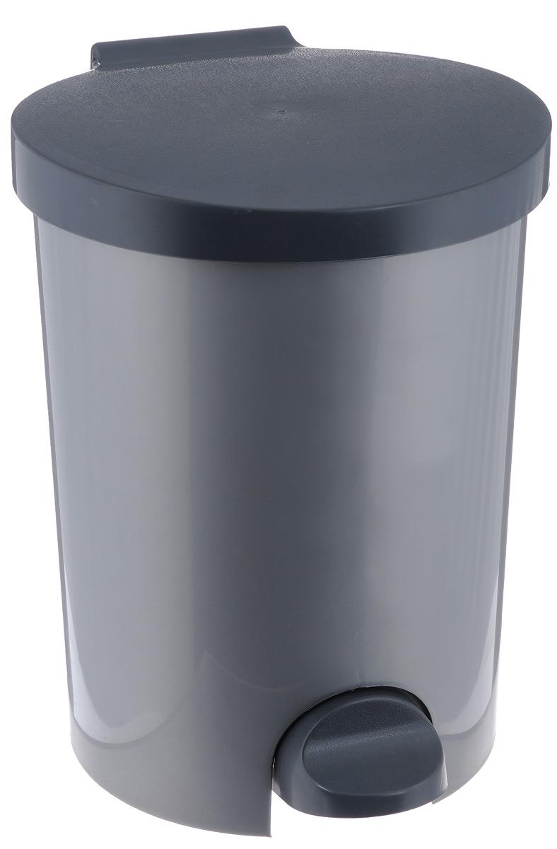 """Контейнер для мусора """"Curver"""", с педалью, цвет: серый, 15 л"""