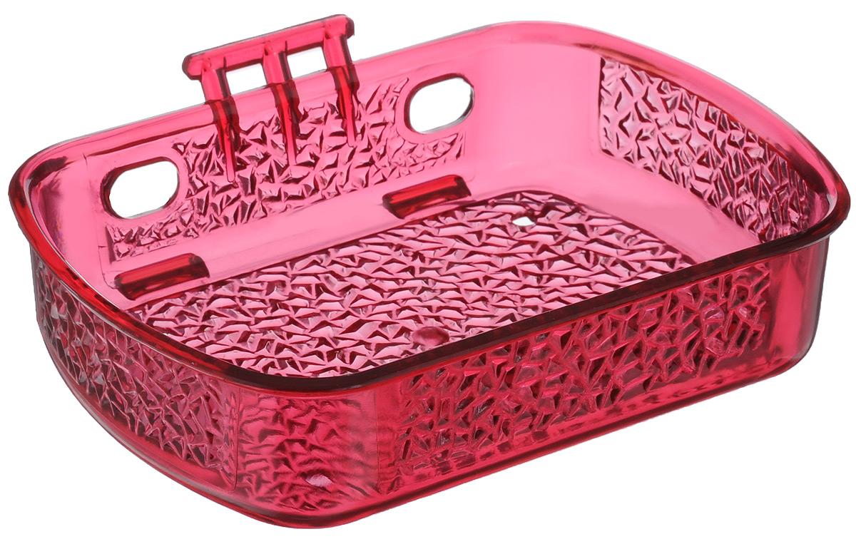 Мыльница Fresh Code, на липкой основе, цвет: малиновый, 10 х 13,5 х 3 см64946_малиновыйМыльница для ванной комнаты Fresh Code выполнена из цветного пластика, декорированного красивым рельефом. Крепление на липкой ленте многократного использования идеально подходит для гладкой поверхности. Такая мыльница прекрасно подойдет для интерьера ванной комнаты.