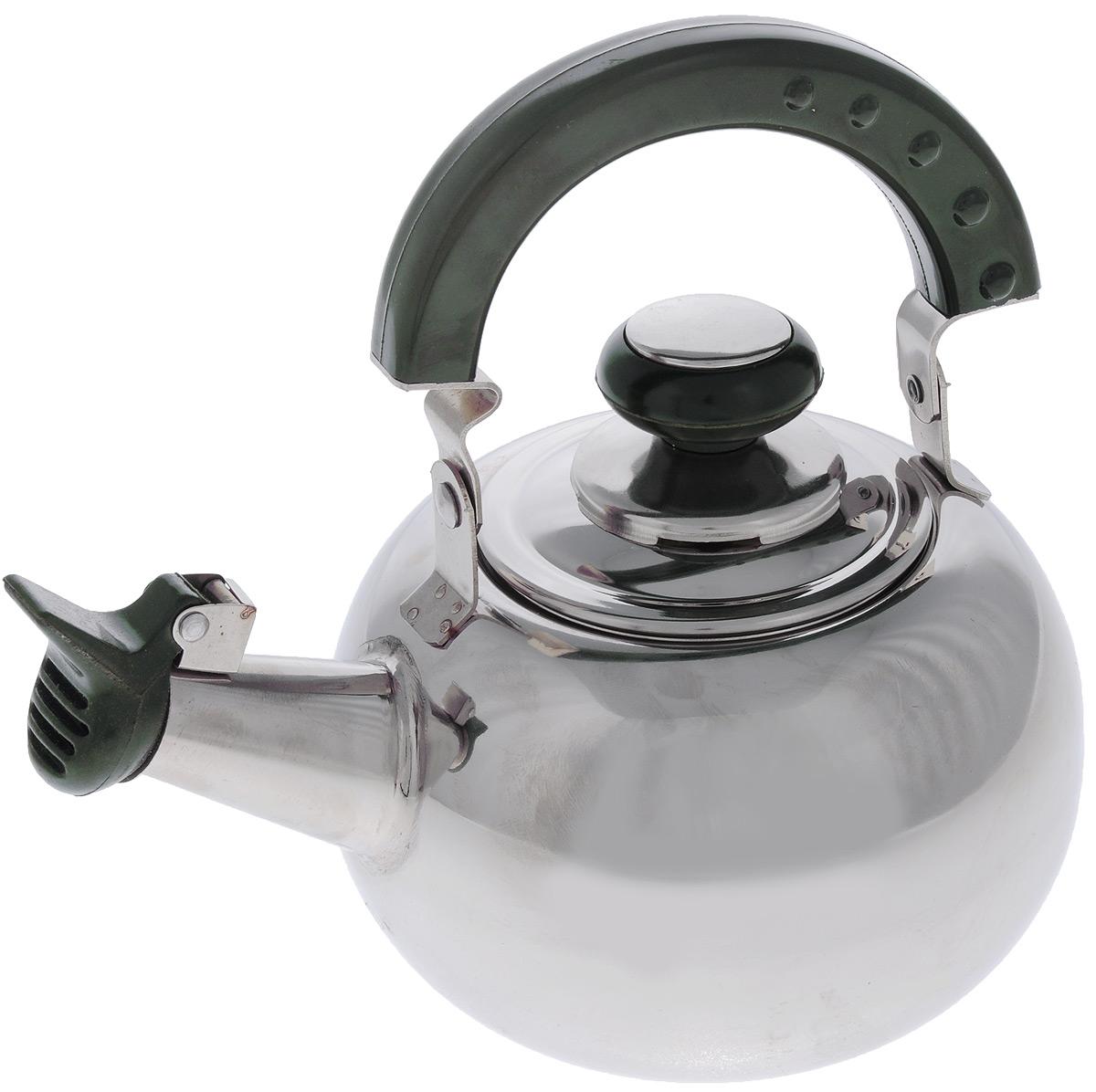 Чайник Mayer & Boch со свистком, с ситечком, 1 л20139Чайник Mayer & Boch изготовлен из высококачественной нержавеющей стали. Нержавеющая сталь обладает высокой устойчивостью к коррозии, не вступает в реакцию с холодными и горячими продуктами и полностью сохраняет их вкусовые качества. Особая конструкция дна способствует высокой теплопроводности и равномерному распределению тепла. Внешнее зеркальное покрытие придает приятный внешний вид. Бакелитовая ручка делает использование чайника очень удобным и безопасным. Чайник снабжен свистком и ситечком для заваривания. Чайник Mayer & Boch пригоден для использования на всех видах плит, кроме индукционных. Можно мыть в посудомоечной машине. Диаметр по верхнему краю: 8 см. Диаметр основания: 8,5 см. Высота с учетом крышки: 12 см. Диаметр ситечка: 7 см. Высота ситечка: 6,5 см.