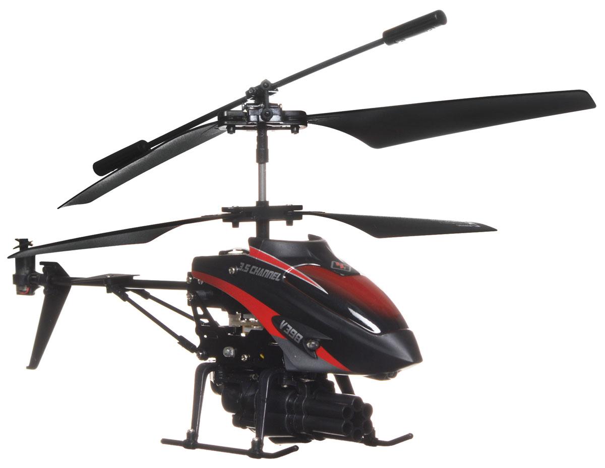 Mioshi Вертолет на радиоуправлении BlazerMTE1202-112Вертолет на радиоуправлении Mioshi Blazer - это настоящий боевой вертолет со встроенным гироскопом и снабженный 8 ракетами! У вашего противника не останется ни единого шанса на победу, ведь игрушка может выстреливать как по одной ракете, так и запустить все сразу. Уверенный полет, ударопрочный корпус, эффектная подсветка - все, что нужно настоящей грозе небес! Игрушка может летать вперед-назад, вверх-вниз, вправо-влево, поворачивать, вращаться и зависать в воздухе. Имеется возможность подзарядки вертолета от пульта и USB-шнура. Если же вы еще ни разу не держали в руках пульт управления, но уже хотите удивлять друзей своим умением виртуозно управлять вертолетом, то просто нажмите на кнопку Demo, и он начнет выполнять уже запрограммированные действия. Устраивайте соревнования по скорости и меткости со своими друзьями, научитесь в совершенстве маневрировать и совершать мягкую посадку, чтобы стать пилотом высшего класса. Игрушка развивает многочисленные...