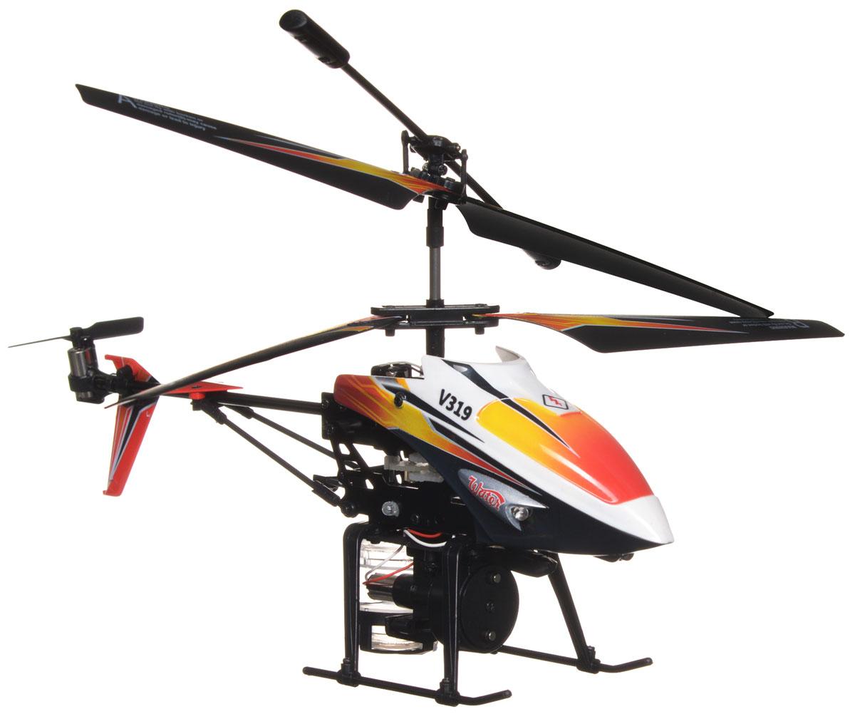 Mioshi Вертолет на инфракрасном управлении Splash цвет оранжевый черныйMTE1202-111Вертолет на инфракрасном управлении Mioshi Splash со встроенным гироскопом отлично подходит для полетов в закрытых помещениях и на улице в безветренную погоду. Гироскоп предназначен для курсовой стабилизации полета. Вертолет небольшой и маневренный и легко обходит препятствия, послушно следуя командам c пульта управления. Игрушка может летать вперед-назад, вверх-вниз, вправо-влево, поворачивать, вращаться и зависать в воздухе. Имеется возможность подзарядки вертолета от пульта и USB-шнура. Почувствуйте себя пилотом настоящего современного вертолета, который может совершать воздушные атаки водой! Игрушка развивает многочисленные способности ребенка - мелкую моторику, пространственное мышление, реакцию и логику. Вертолет работает от встроенного аккумулятора, который можно заряжать от USB-шнура (входит в комплект). Для работы пульта управления необходимо купить 6 батареек напряжением 1,5V типа АА (в комплект не входят).