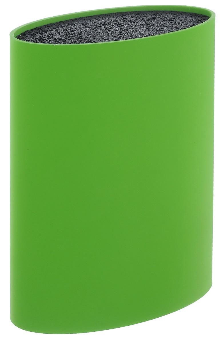 Подставка для ножей Mayer & Boch, цвет: зеленый, высота 22 см24895Подставка для ножей Mayer & Boch представляет собой емкость с гибкими полипропиленовыми стержнями внутри. Это позволяет хранить ножи любой формы, вне зависимости от их размеров или формы среза. Размещайте ножи в любом месте блока-подставки, просто воткнув их в нее. Вы также можете комбинировать ножи из разных наборов. Цветной пластиковый корпус подставки имеет покрытие (внутреннее и внешнее) из термопластичной резины. Подставка сохранит остроту ножей за счет того, что ножи не царапаются об нее. Эта легкая, безопасная и удобная подставка послужит прекрасным подарком. Можно мыть в посудомоечной машине.