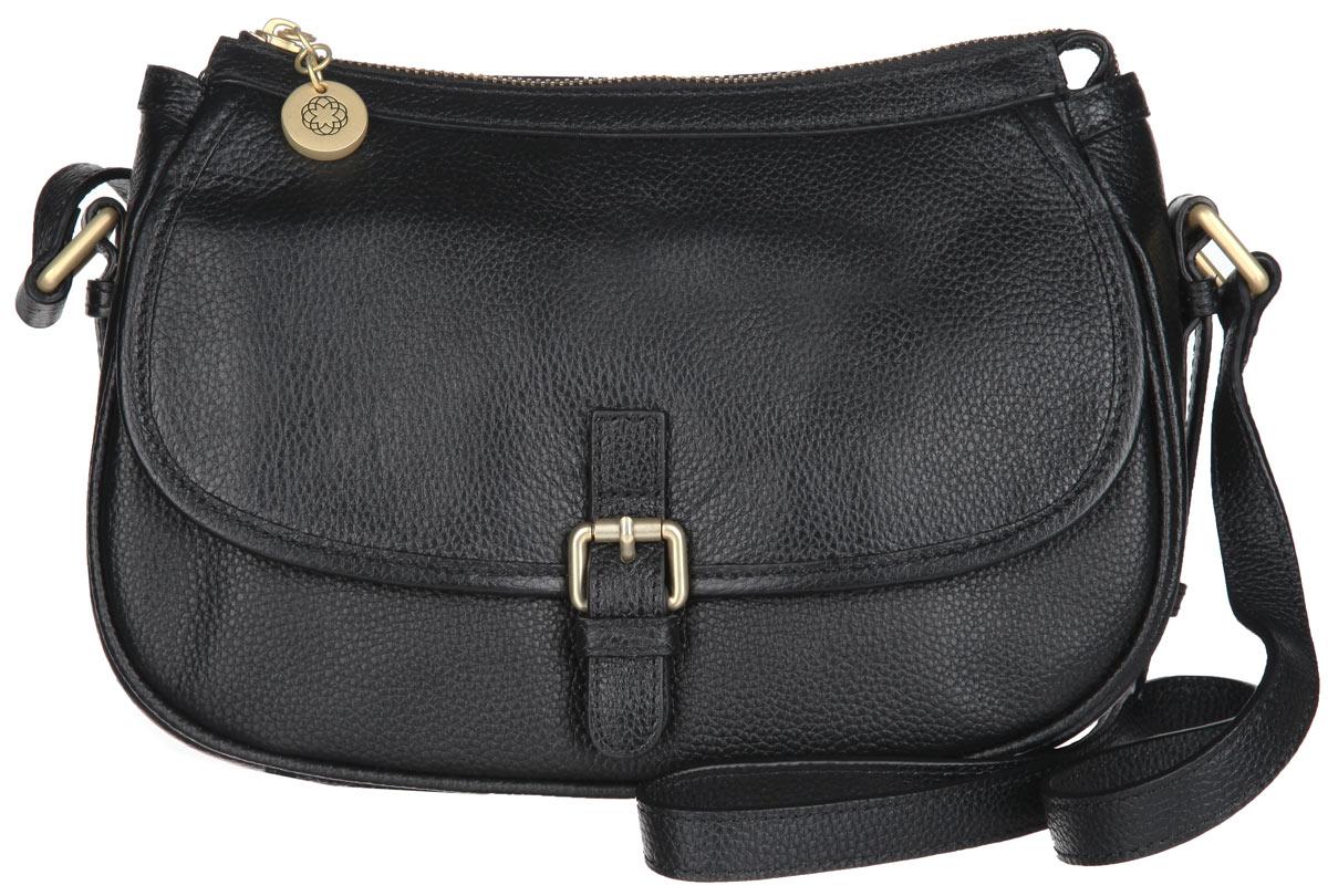 Сумка женская Fiorita, цвет: черная. 0018F0018F blackСтильная женская сумка Fiorita выполнена из натуральной кожи с фактурным тиснением. Изделие имеет одно основное отделение, которое закрывается на застежку-молнию. Внутри находятся два открытых накладных кармана и прорезной карман на застежке-молнии. Снаружи, на задней стенке расположен прорезной карман на застежке-молнии. Лицевая сторона изделия оформлена декоративным клапаном на магнитной кнопке. Сумка оснащена плечевым ремнем, который регулируется по длине. Изделие упаковано в фирменный чехол. Дизайн сумки позволит вам подчеркнуть свою индивидуальность, и сделает ваш образ изысканным и завершенным.