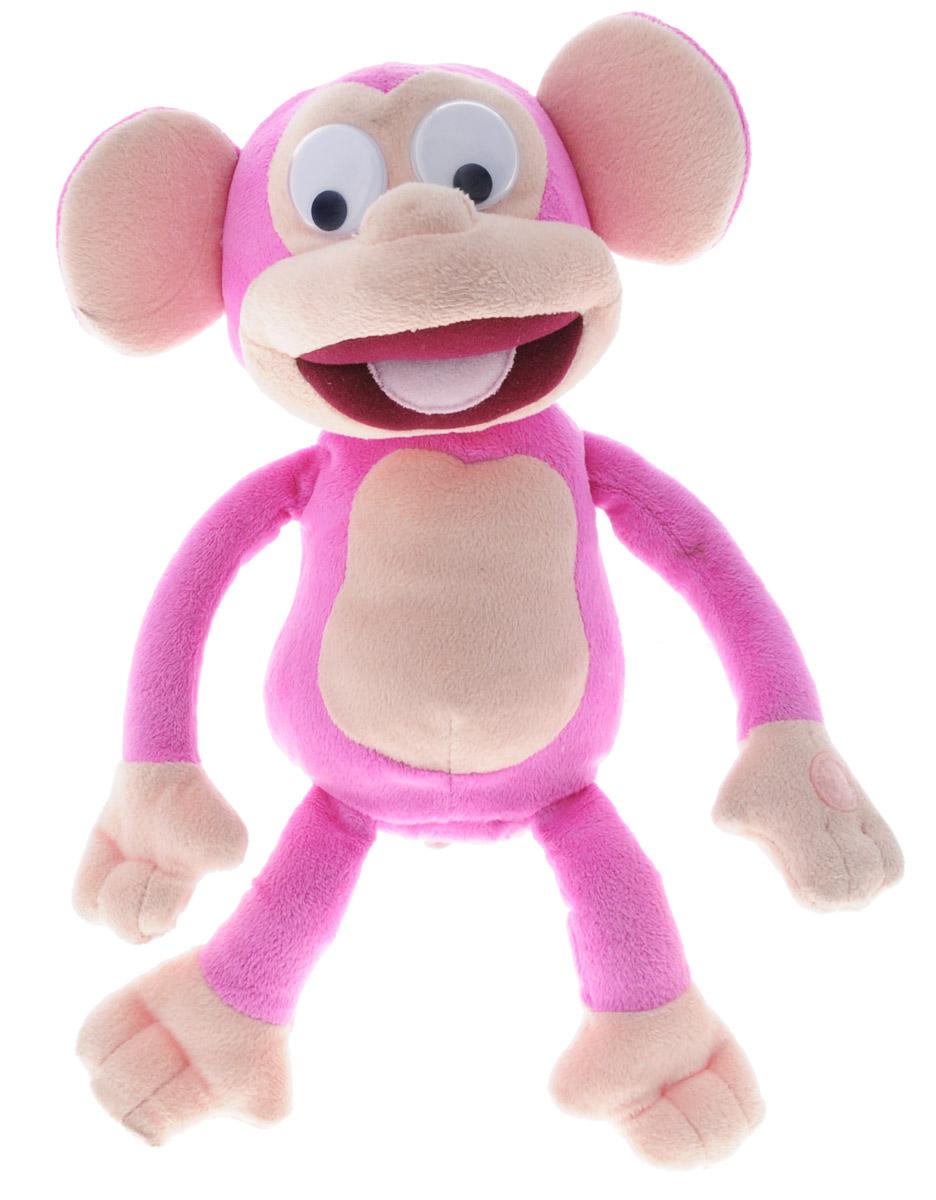 IMC Toys Анимированная мягкая игрушка Fufris Обезьянка цвет розовый 21 см94161IM_розовыйЗабавная анимированная мягкая игрушка IMC Toys Fufris: Обезьянка непременно заставит вас смеяться. Игрушка выполнена из мягкого текстильного материала в виде веселой обезьянки с большими пластиковыми глазками и подвижными зрачками. Нажмите на лапку обезьянки - и она начнет заразительно хохотать и двигаться благодаря встроенному моторчику, а ее глазки будут смешно перекатываться. Задорный смех вызовет улыбку у каждого, кто ее услышит, и обязательно развеселит вас и вашего малыша. Игры с такой игрушкой помогают малышу развить воображение, творческое мышление, способствуют усвоению коммуникативных навыков. Такая игрушка станет прекрасным подарком не только для ребенка, но и для взрослого с хорошим чувством юмора. Рекомендуется докупить 3 батарейки напряжением 1,5V типа AA (товар комплектуется демонстрационными).