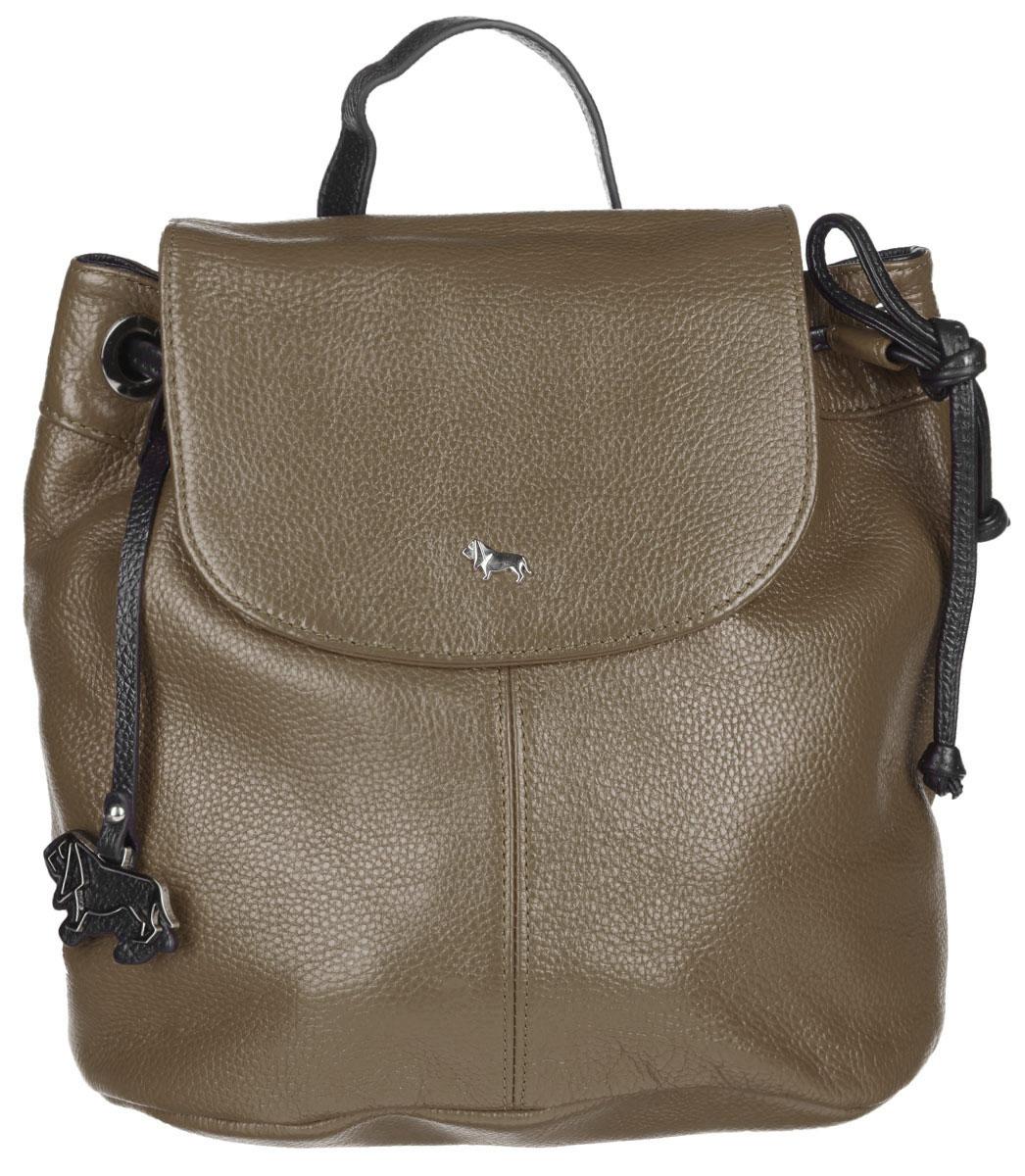Рюкзак женский Labbra, цвет: тауп, черный. L-9916-1L-9916-1Стильный женский рюкзак Labbra выполнен из натуральной кожи с фактурным тиснением. Изделие имеет одно отделение, закрывающееся на клапан с магнитом и дополнительно на затягивающийся шнурок. Внутри находится прорезной карман на застежке-молнии и два открытых накладных кармана. Снаружи, на задней стенке расположен прорезной карман на застежке- молнии. Рюкзак оснащен съемной лямкой, регулируемой по длине, которая позволяет носить изделие на плечах, или в руках, как сумку. Изделие украшено фирменным брелоком. В комплект входит фирменный чехол для хранения. Стильный рюкзак Labbra прекрасно дополнит ваш образ.