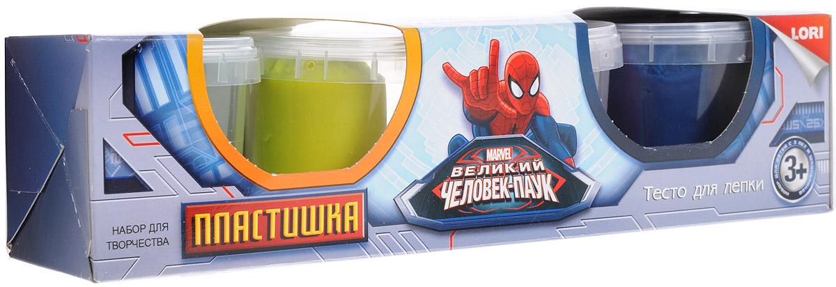 Lori Тесто для лепки Человек-паук 4 цвета lori тесто для лепки человек паук 4 цв