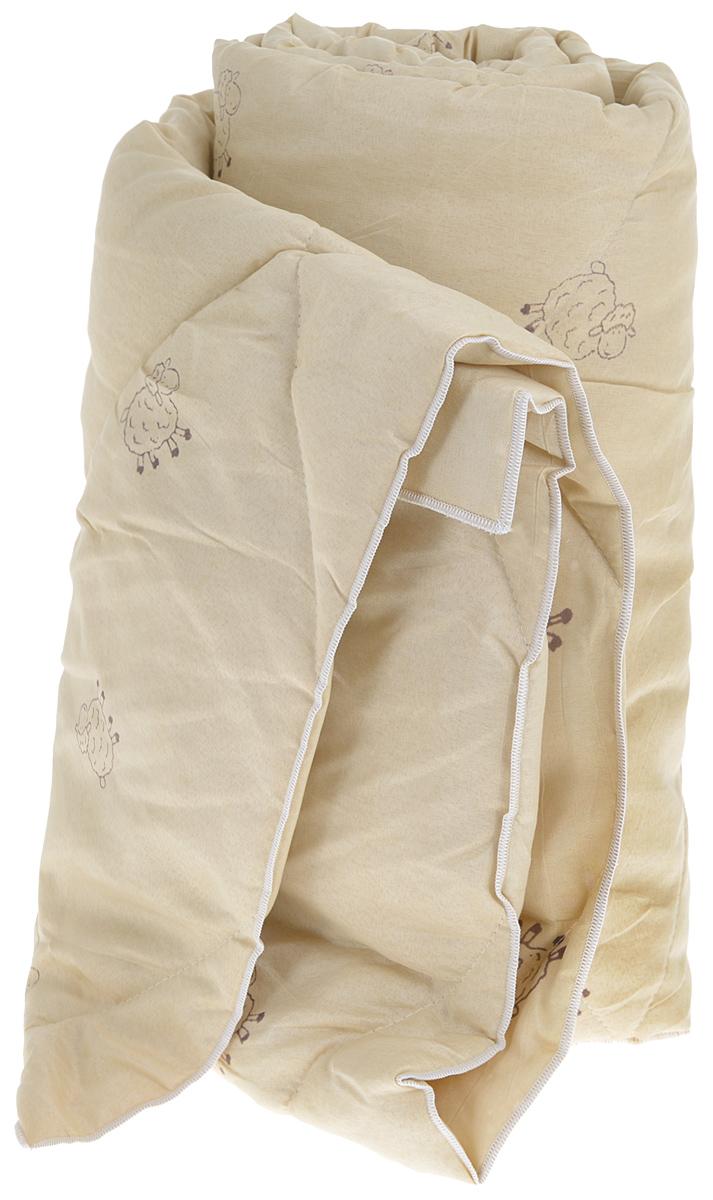 Одеяло Sleeper Находка, легкое, наполнитель: овечья шерсть, 140 x 200 см22(33)323_бежевыйЛегкое одеяло Sleeper Находка с наполнителем - овечьей шерстью, со стежкой, не оставит равнодушными тех, кто ценит здоровье и красоту. Изысканный цвет чехла отвечает современным европейским тенденциям, а наполнитель из овечьей шерсти придает изделию мягкость, упругость и повышенные теплозащитные свойства. Ткань чехла изготовлена из микрофибры - мягкого, приятного на ощупь материала. Материал чехла: микрофибра (100% полиэстер). Материал наполнителя: овечья шерсть. Масса наполнителя: 200 г/м2.